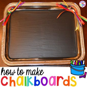 DIY Student Chalkboards using Trays from the Dollar Store