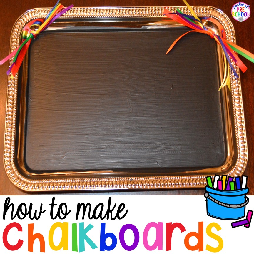 How to make student chalkboards for your classroom (they are easy and cheap to make too) Just perfect for my preschoolers!