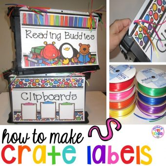 How to Make Crate Labels & use Large Classroom Labels