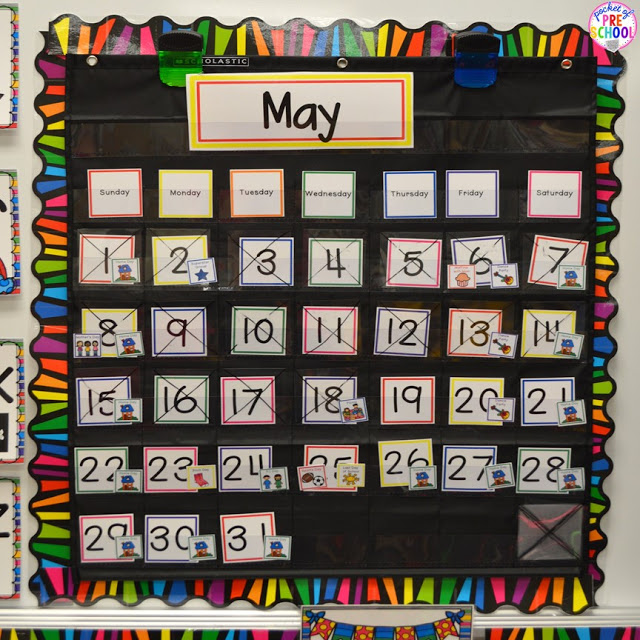 How to make and implement a linear calendar for your classroom (helpful hints to make calendar time fun for your preschoolers)