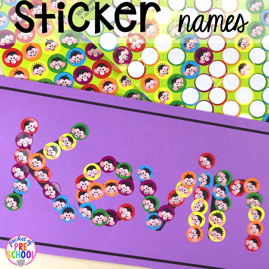 FREE Collage name cards to teach student's his/her names! Perfect for preschool, pre-k, and kindergarten. #preschool #pre-k #backtoschool #namecards