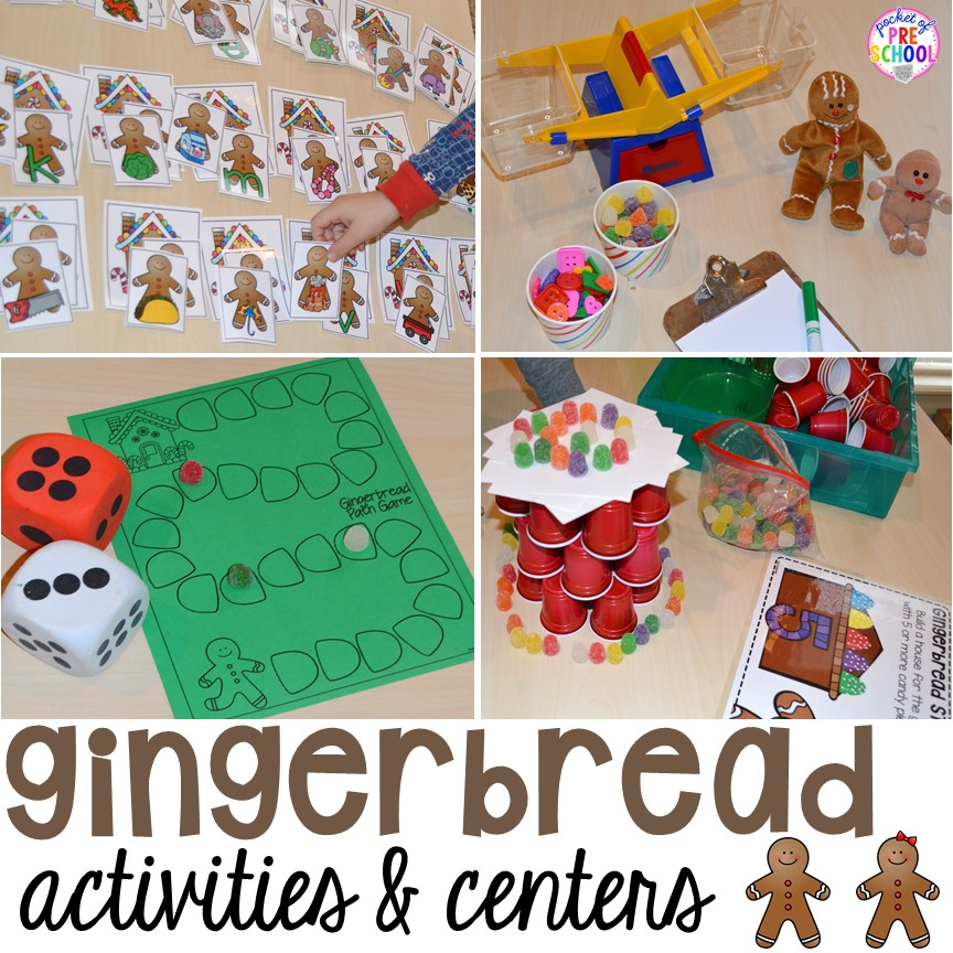 Gingerbread Centers And Activities For Gingerbread Week