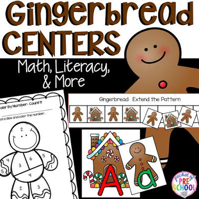 Gingerbread Centers And Activities For Gingerbread Week Freebies