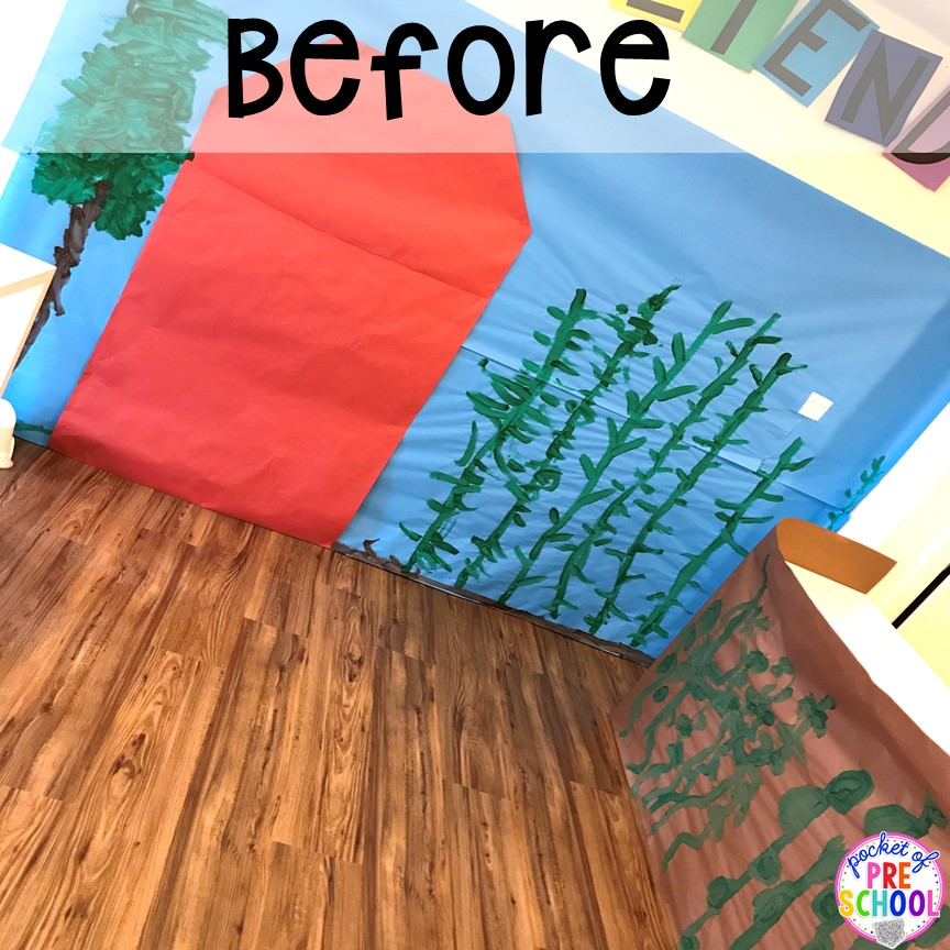 Set up time. Tips, tricks, and ideas to change your dramatic play center into a FARM! Perfect for preschool, pre-k, and kindergarten classrooms. #farmtheme #dramaticplay #pretend