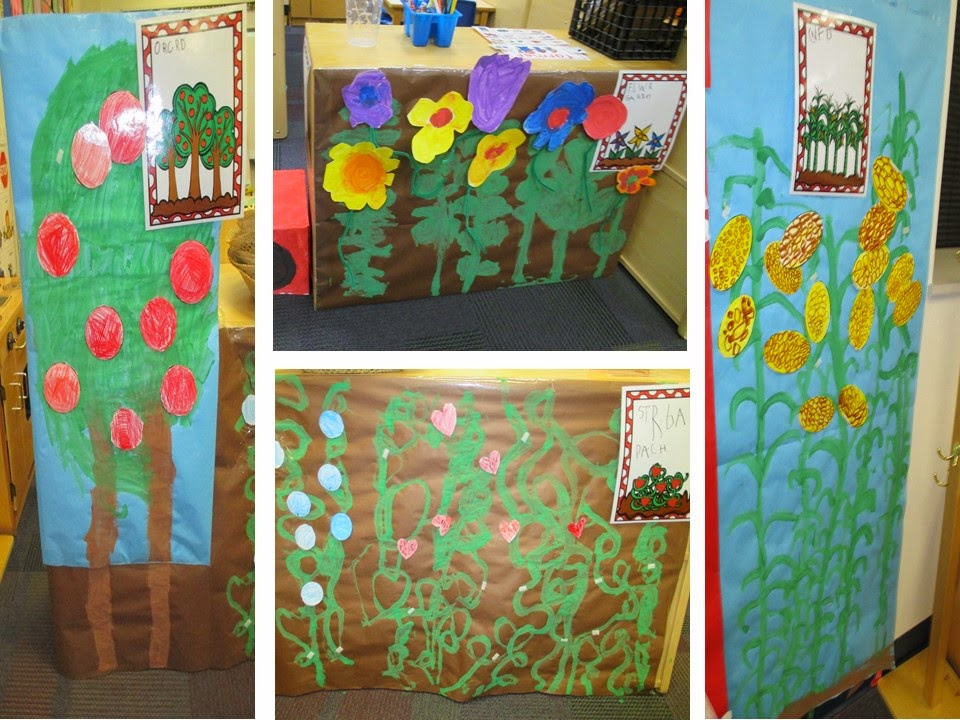 Farm in the dramatic play center pocket of preschool for Indoor gardening lesson