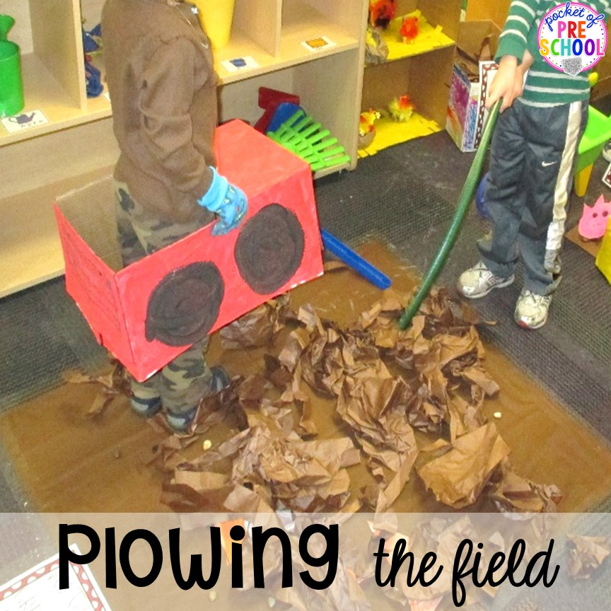 DIY tractor! Tips, tricks, and ideas to change your dramatic play center into a FARM! Perfect for preschool, pre-k, and kindergarten classrooms.