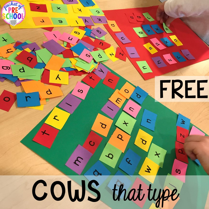 Click clack moo activity (freebie) plus more fun farm literacy activities for my preschool, prek, and kindergarten kiddos. #farmtheme #preschool