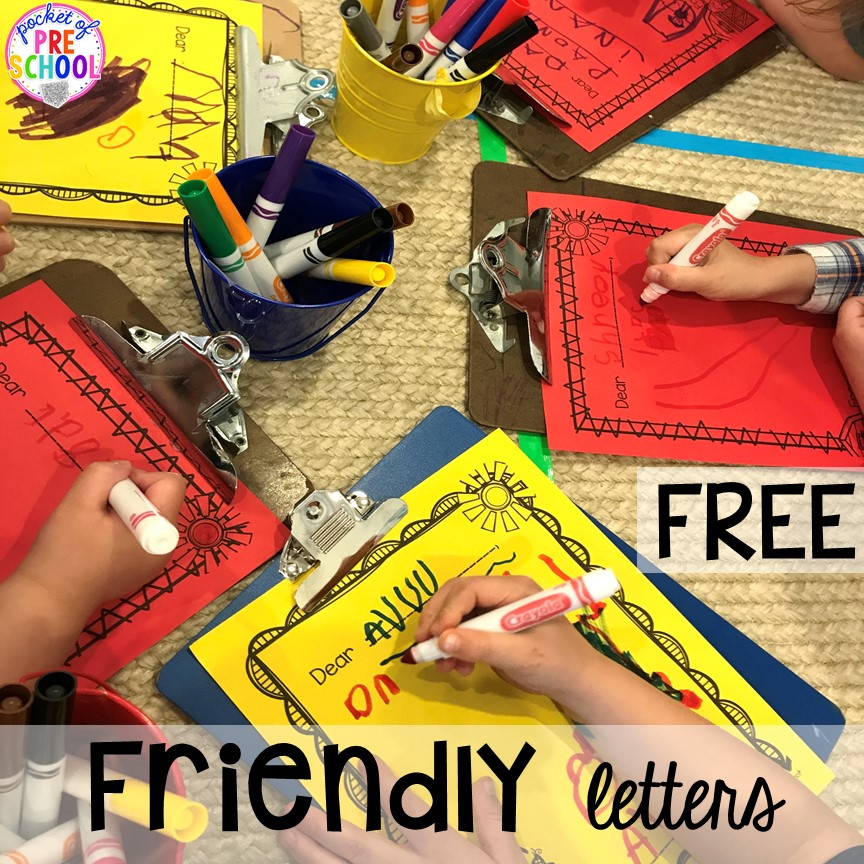 Farm friendly letters plus more fun farm literacy activities for my preschool, prek, and kindergarten kiddos. #farmtheme #preschool