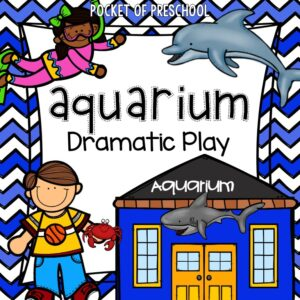 Change the dramatic play center into an Aquarium. Includes printables, teacher plans, parent letter, and tons of printables.