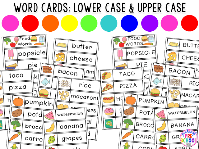 Pocket Of Preschool  Grocery Words