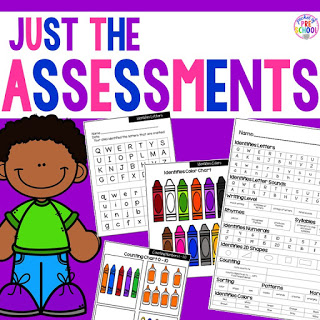 Make assessments & student portfolios easy and manageable! Just print, assess, record, and file! Perfect for preschool, pre-k, and kindergarten.