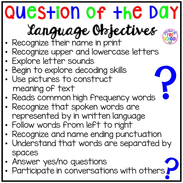 Question of the Day - Pocket of Preschool