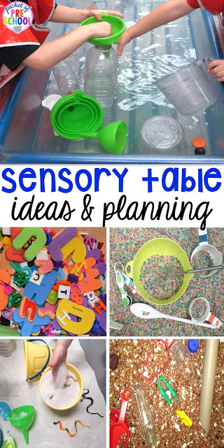 Sensory table ideas - sensory filler list, sensory tools list plus how to make it meaningful play in your early childhood classroom