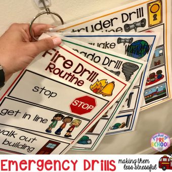 Emergency Drills Visual Routine Posters & Supports (Fire Drill, Earthquake, Tornado, & Intruder Drills)