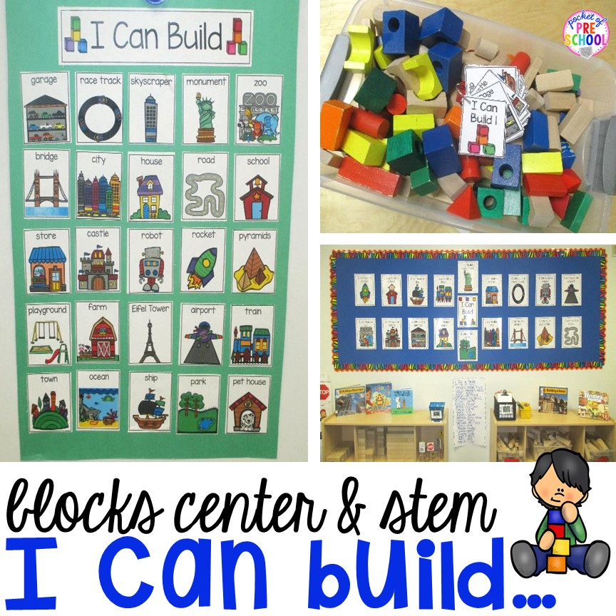 I Can Build Blocks Center Pocket Of Preschool