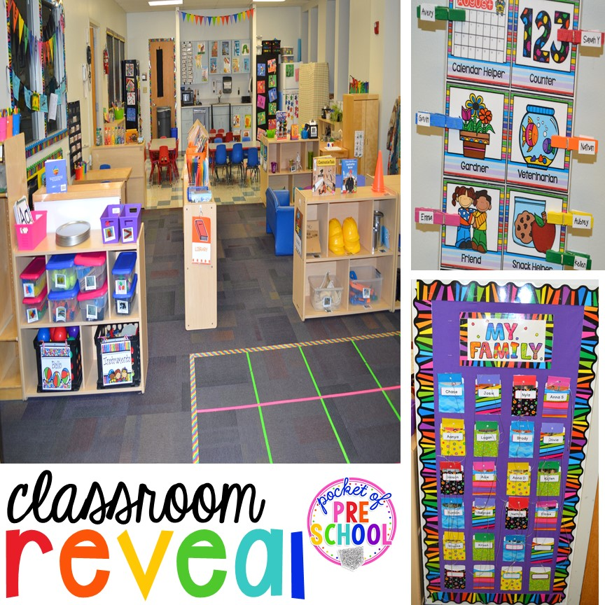Classroom Decor And Learning ~ Classroom reveal and a freebie pocket of preschool