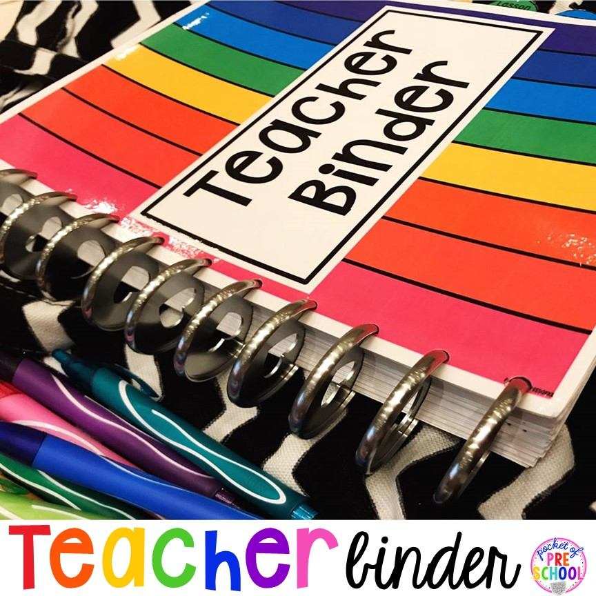 How to make a Teacher Lesson Plan Binder for toddler, preschool, pre-k, and kindergarten teachers. Get organized! #teacherplanner #lessonplans #preschool #pre-k #backtoschool