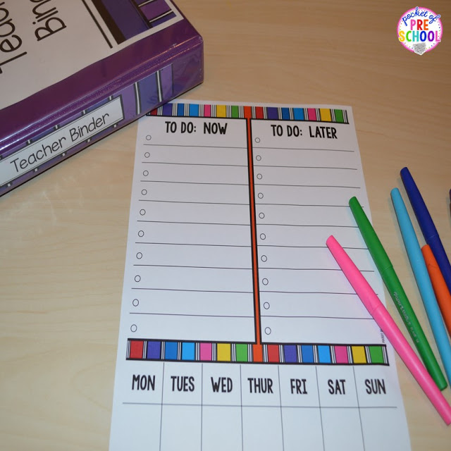 free to do lists to help keep you and your classroom organized all year long