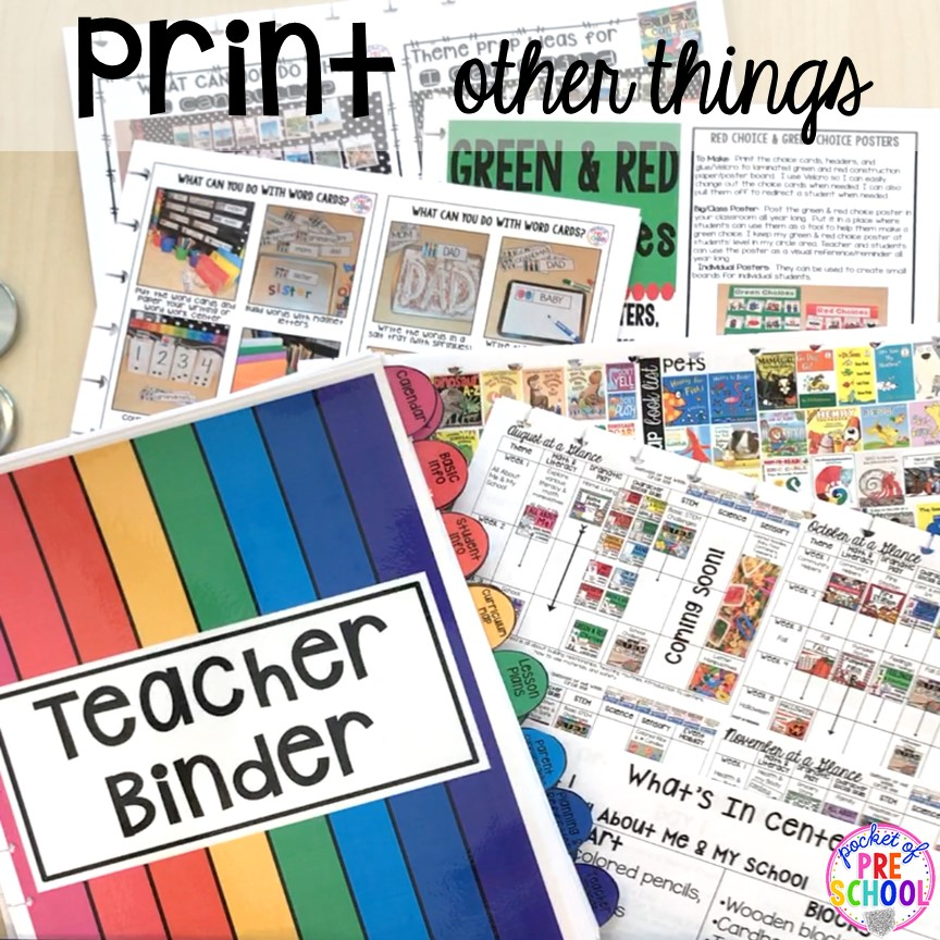 Teacher lesson plan binder (what to put inside) for toddler, preschool, pre-k, and kindergarten teachers. Get organized! #teacherplanner #lessonplans #preschool #pre-k #backtoschool