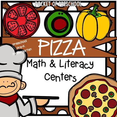 Pizza Themed Centers For Preschool Pre K And Kindergarten