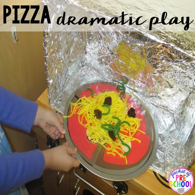 Make your own pizza oven perfect for a pizza theme in a preschool, pre-k, and kindergarten classroom.