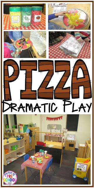 Tips and tricks on how to create a pizza restaurant in the dramatic play center in your early childhood classroom! Perfect for preschool, pre-k, and kindergarten.