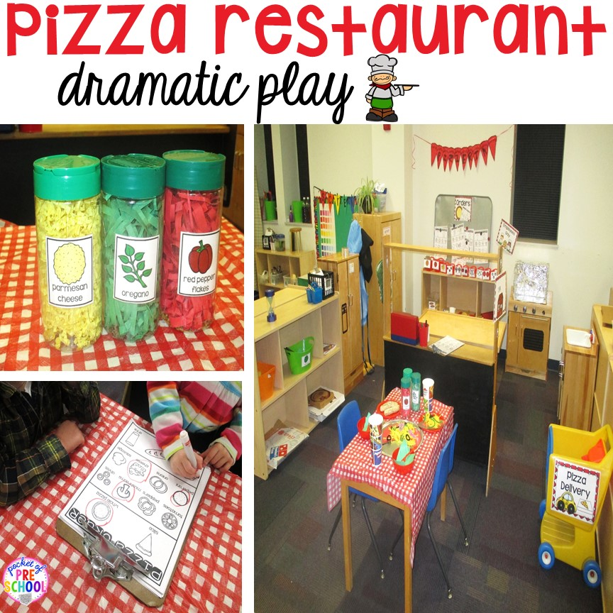 Tips and tricks on how to create a pizza restaurant in the dramatic play center in your early childhood classroom! Perfect for preschool, pre-k, and kindergarten