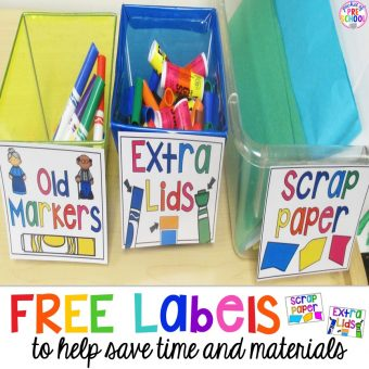 FREE Labels (Extra Lids, Paper Scraps, & Old Markers)