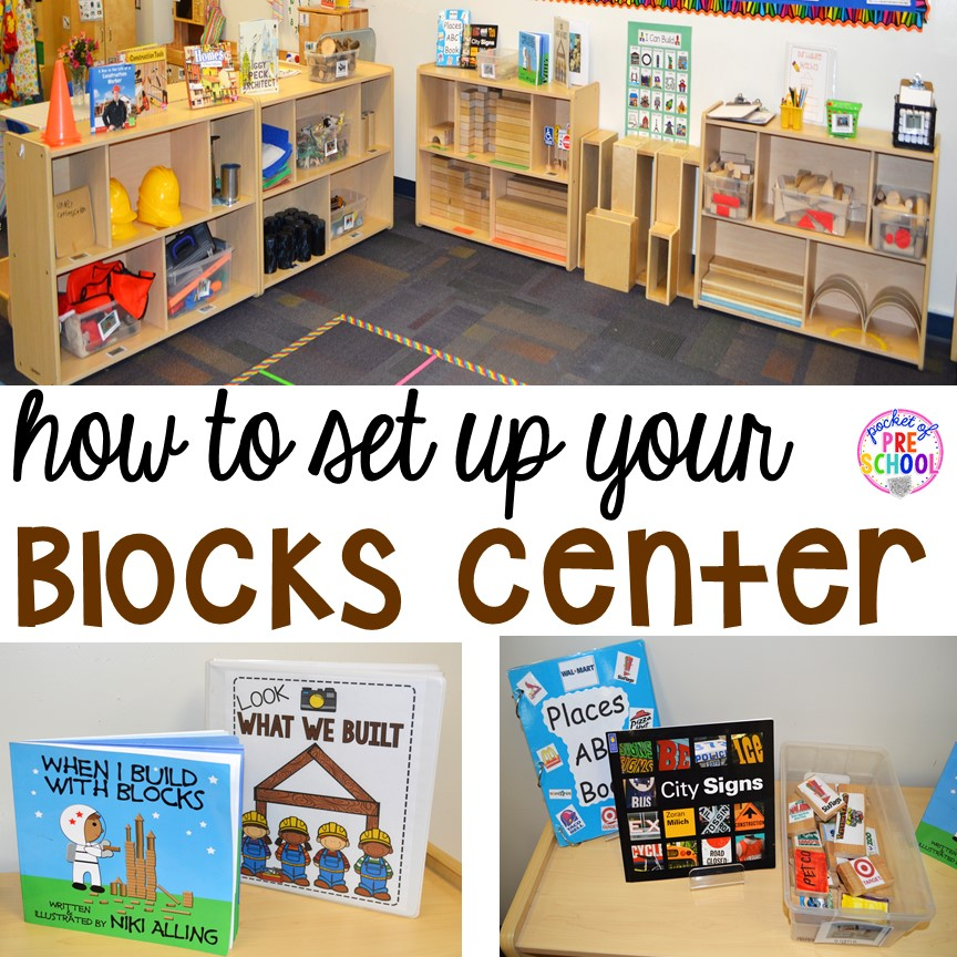 How to set up the blocks center in an early childhood - One of your students left their book on the table ...