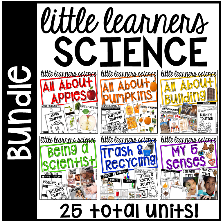 Little Learners Science Curriculum - 25 science units made just for preschool, pre-k, and kindergarten packed with real photographs!