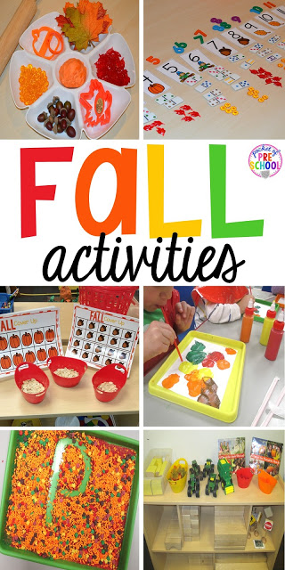 Fall Themed Activities for Little Learners - Pocket of ...