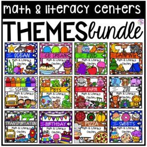 Themed Centers designed for preschool, pre-k, and kindergarten students.