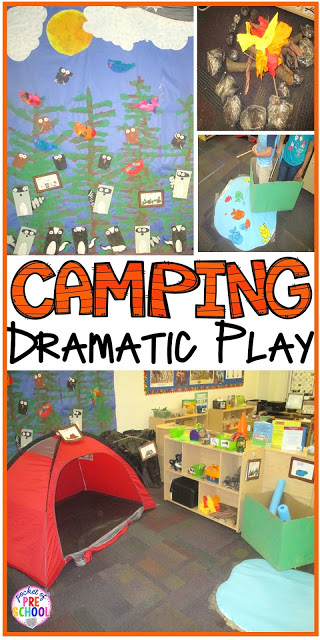 Camping Dramatic Play: How to set it up in your preschool, pre-k, tk, and kindergarten classroom