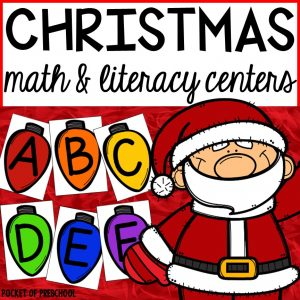 Christmas Centers for preschool, pre-k, and kindergarten