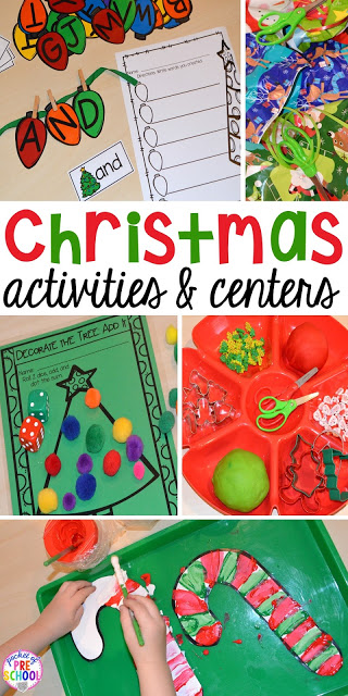 Christmas Activities and Centers for Preschool and ...