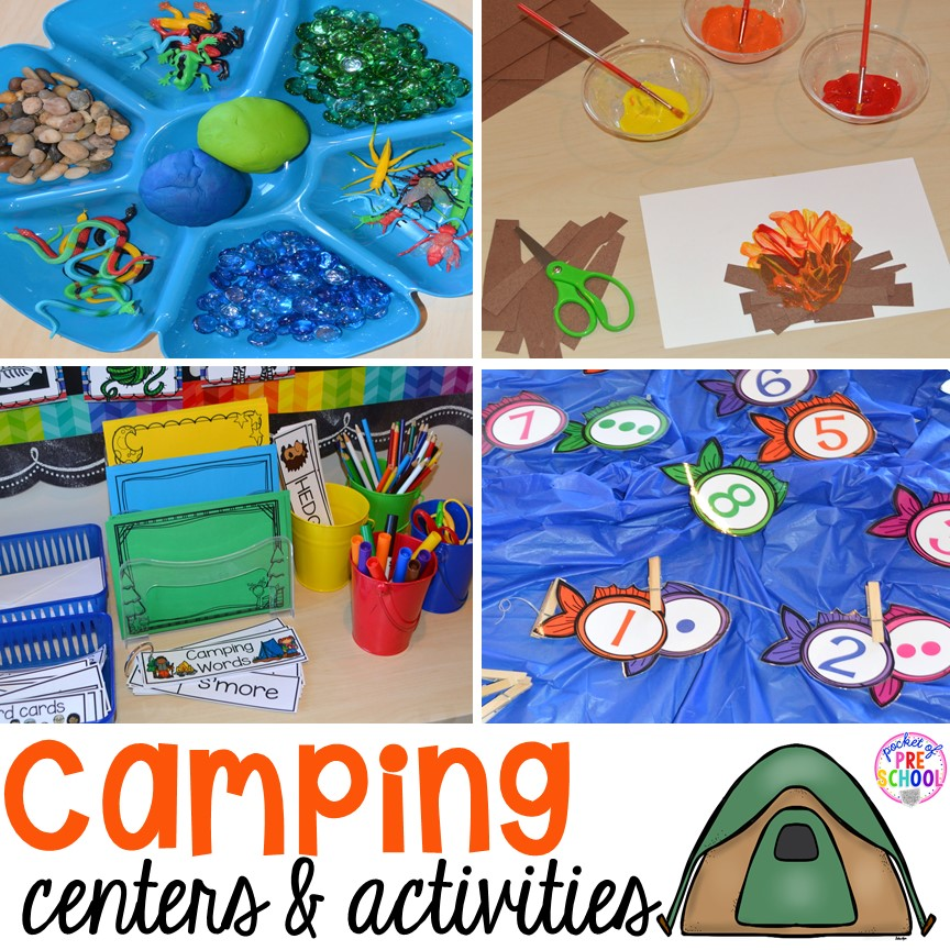 camping centers and activities pocket of preschool
