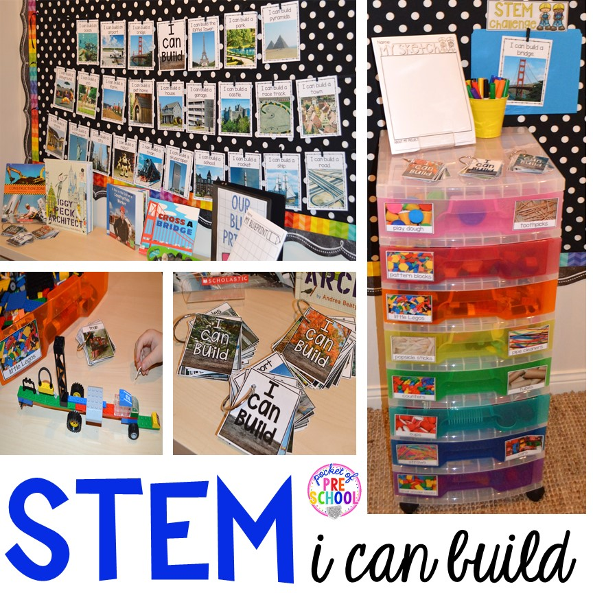 Prepare Your Child For Stem Subjects: STEM I Can Build And STEM Drawers