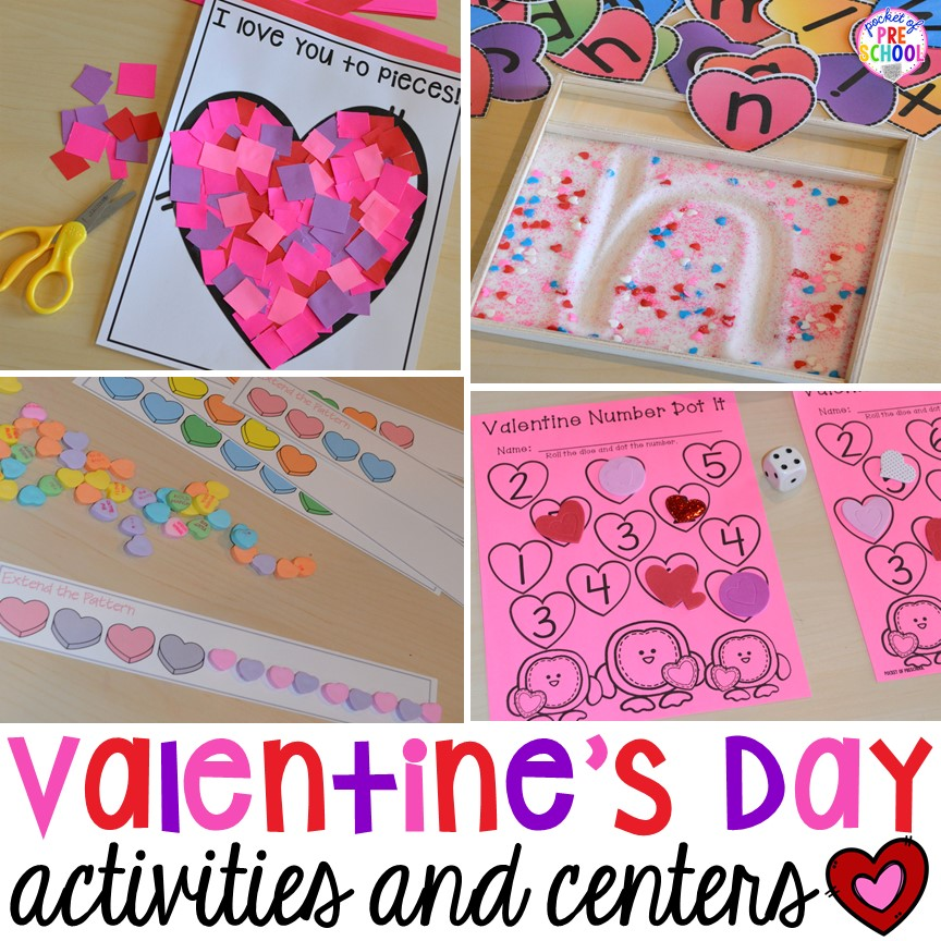 Valentine 39 s day themed centers and activities pocket of for Valentines day ideas seattle