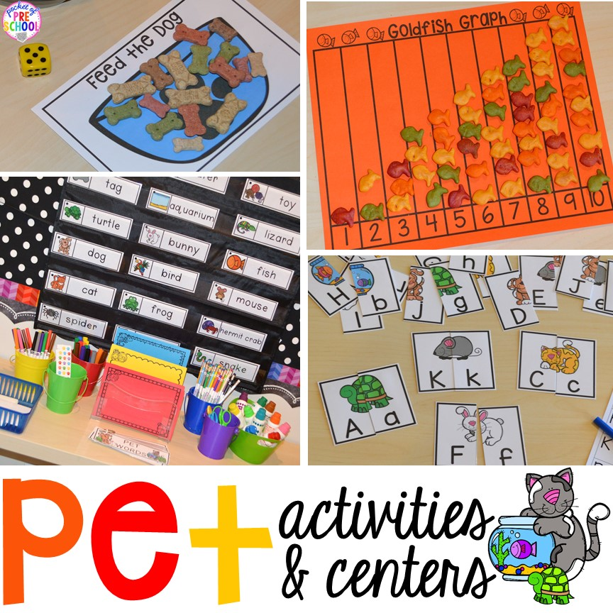 Pet Themed Activities And Centers Freebies Too For Preschool Pre K