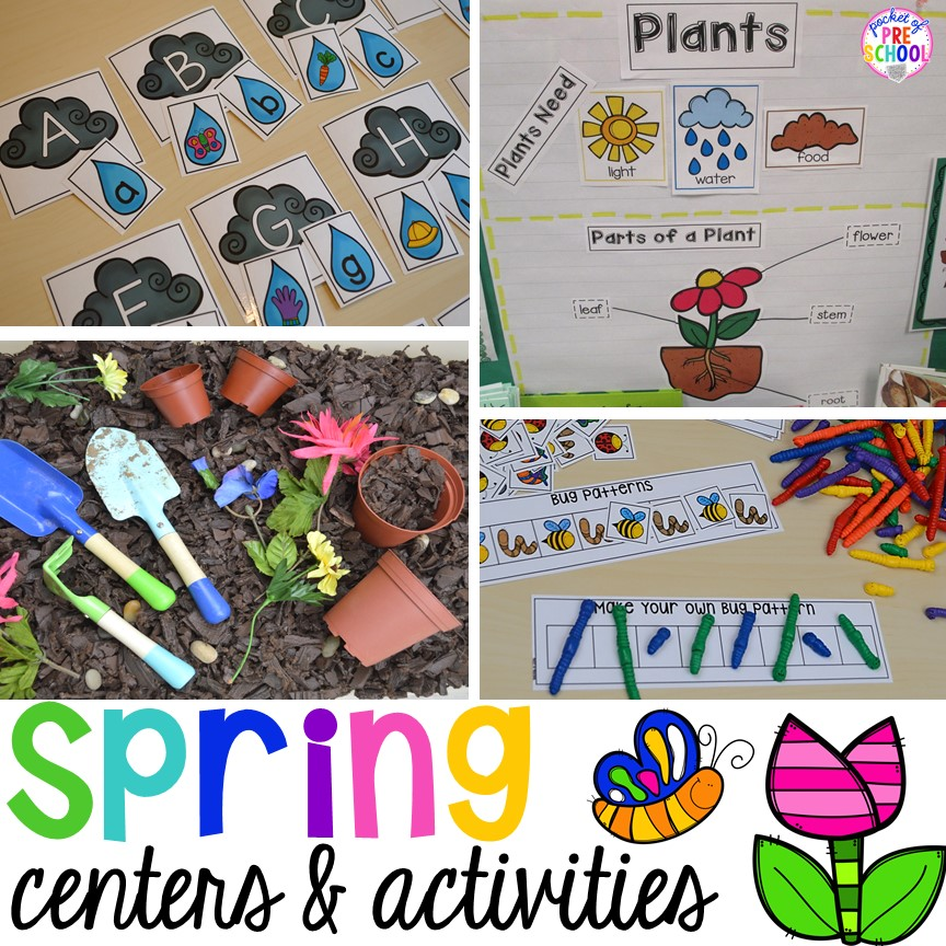 Spring Activities and Centers for Preschool, Pre-K, and Kindergarten ...