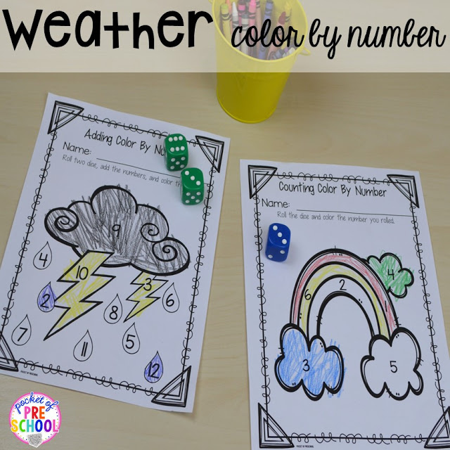 Spring themed color by number plus Plant Needs and Life Cycle Posters FREEBIE. Prefect for preschool, pre-k, and kindergarten.