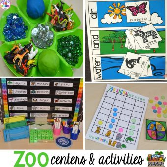 Zoo Centers and Activities (Free Desert Art Activity)