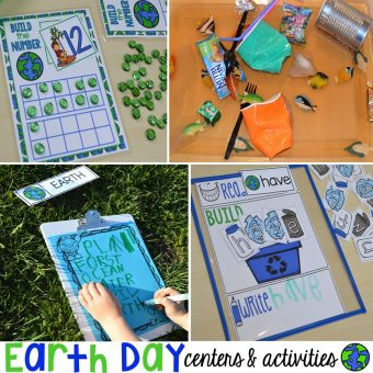 Earth Day Centers and Activities (FREE Earth Day Vocab Posters)