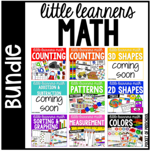 Little learners math curriculum for preschool, pre-k, and kindergarten.