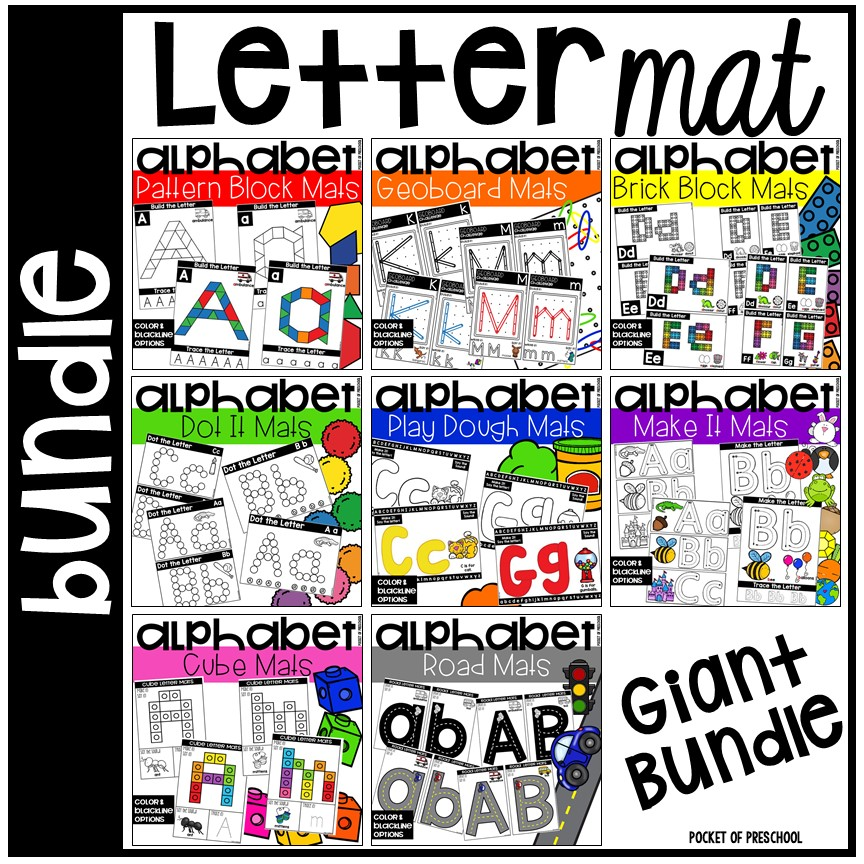 Letter build it mat bundle to make learning letters and handwriting FUN!