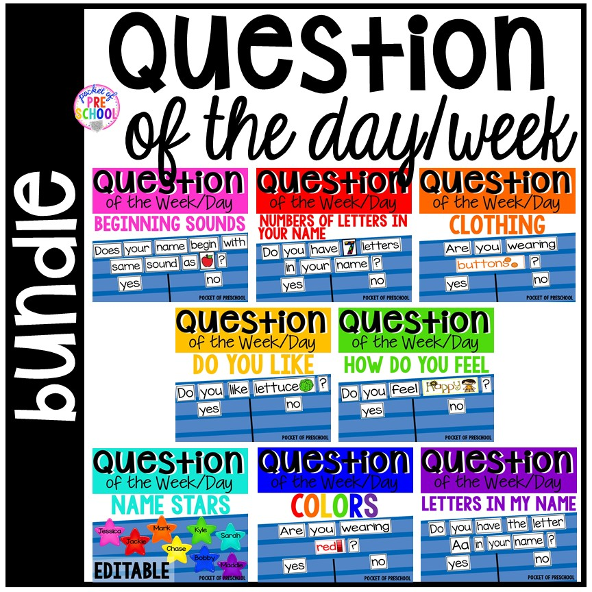 Question of the Week for preschool, pre-k, and kindergarten.