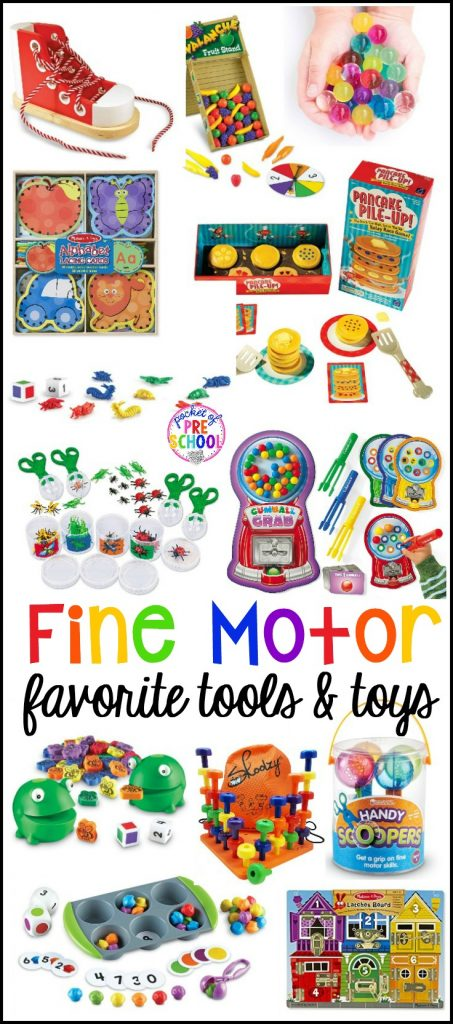 Fine motor tools, toys, and activities for little learners (preschool, pre-k, and kindergarten)! Make fine motor work FUN!