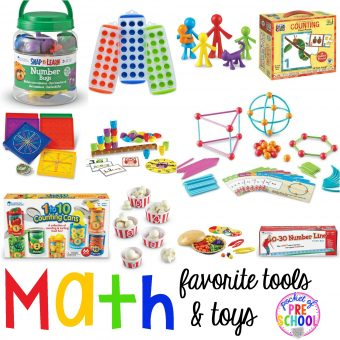 Favorite Math Tools & Toys for Preschool - Pocket of Preschool