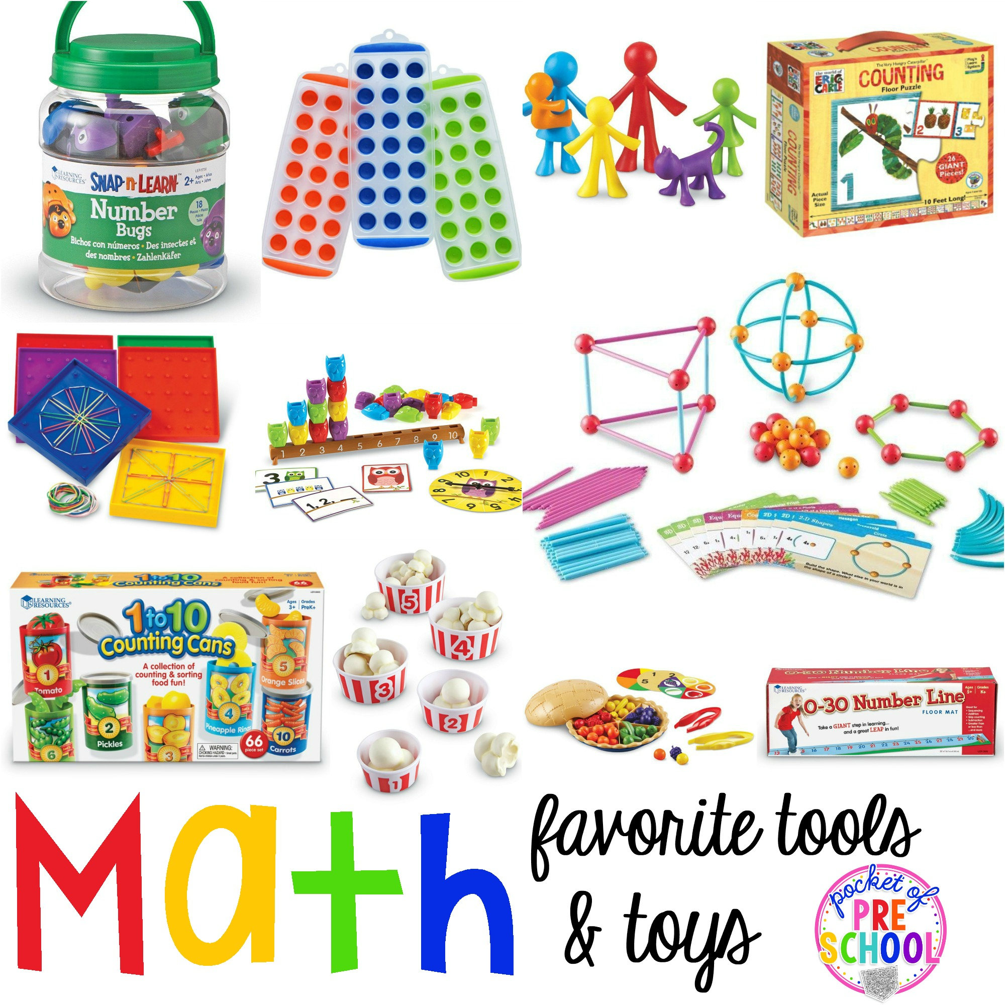 Toys For Kindergarten : Favorite math tools toys for preschool pocket of