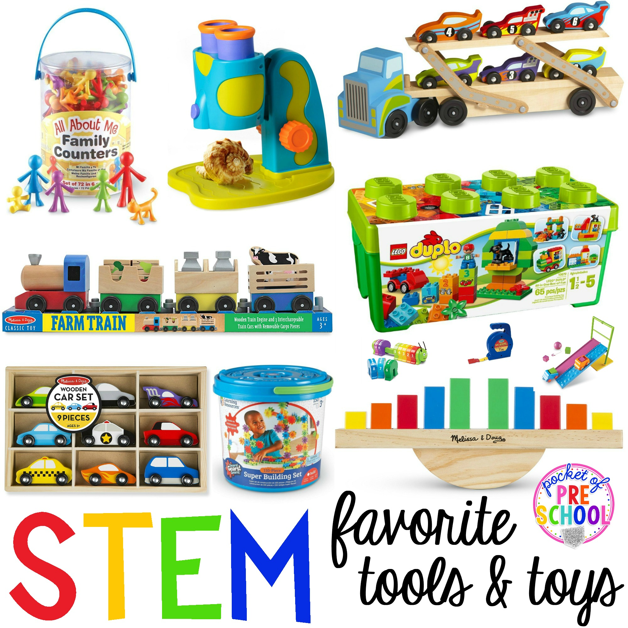 Toys For Kindergarten : Stem tools and toys for preschool pre k kindergarten